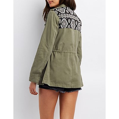 Tribal-Trim Anorak Jacket