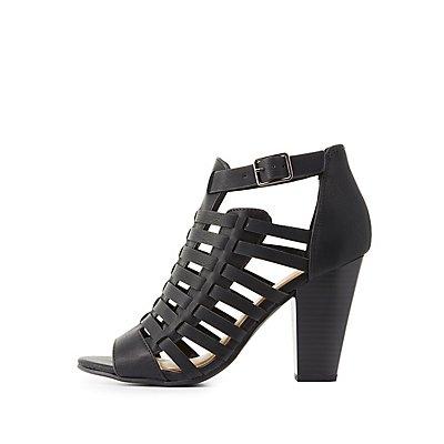 Huarache Chunky Heel Sandals