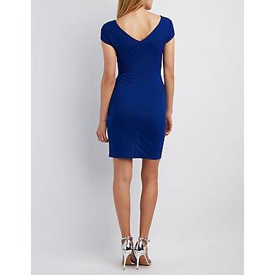 Zip-Front Bodycon Dress