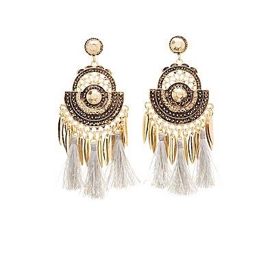 Boho Fringe Drop Earrings