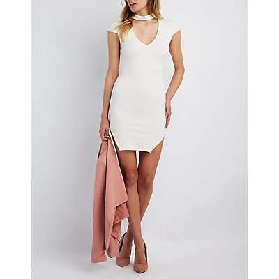 Choker Neck Bodycon Dress