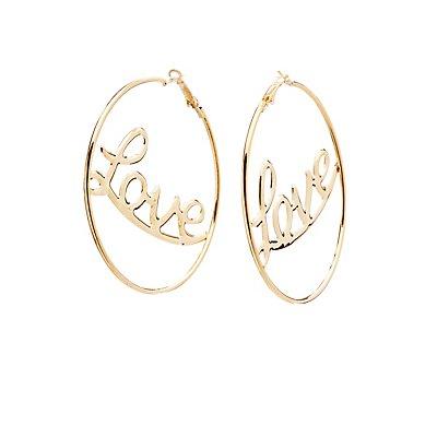 Love Hoop Earrings