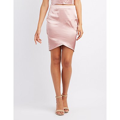 Satin Bandage Skirt
