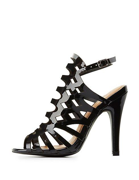 b1f080ec39d Wide Width Laser Cut Dress Sandals