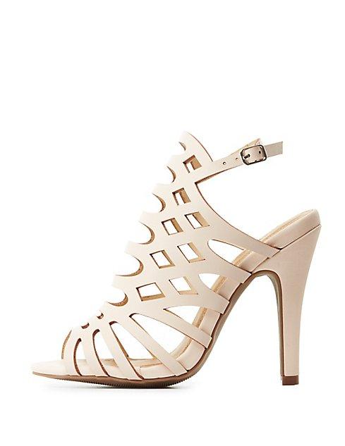 c05827dee75a Wide Width Laser Cut Dress Sandals ...