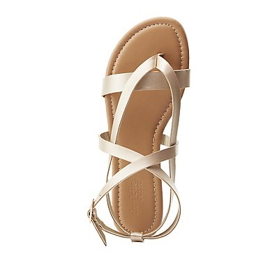 Strappy Crisscross Gladiator Sandals