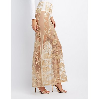 Brocade Crop Top & Maxi Skirt Hook-Up