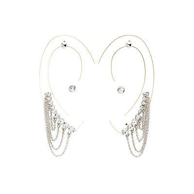 Chainlink Ear Cuffs & Stud Earrings Set