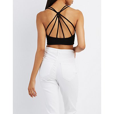 Strappy Caged-Back Crop Top