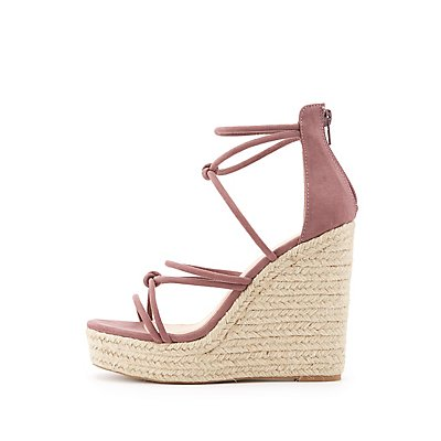 Knotted Espadrille Wedge Sandals