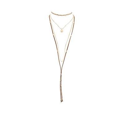 Embellished Layered Choker Necklace