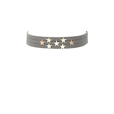 Plus Size Star Embellished Choker Necklace