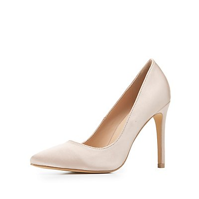 Satin Pointed Toe Pumps