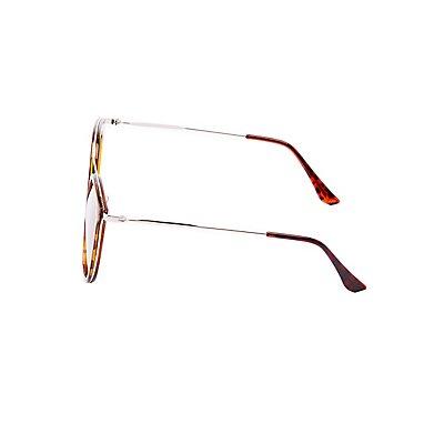 Tortoise Shell Brow Bar Sunglasses