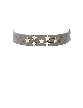 Star Embellished Choker Necklace