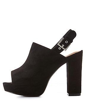 Wide Width Platform Slingback Sandals