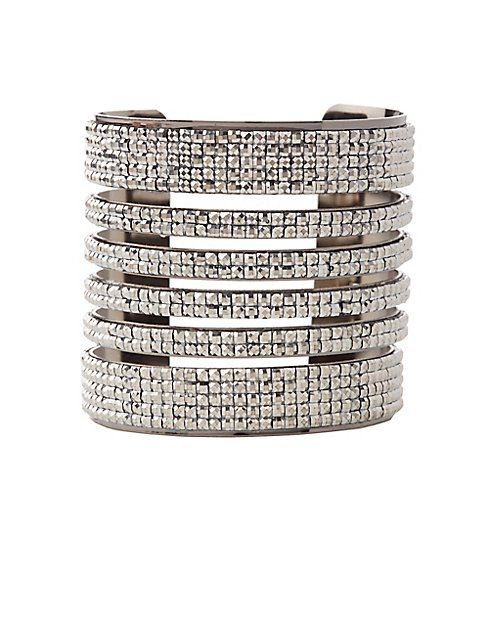Plus size embellished caged cuff bracelet charlotte russe for Plus size jewelry bracelets
