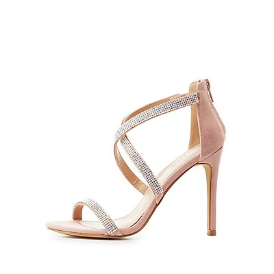 Embellished Crisscross Dress Sandals