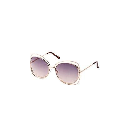 Metal Oversize Sunglasses