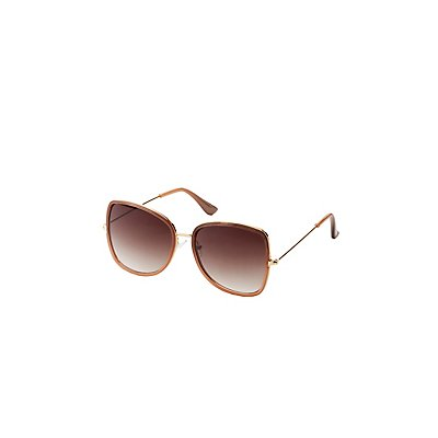 Metal-Trim Square Sunglasses