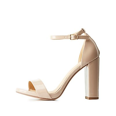 Two-Piece Patent Dress Sandals