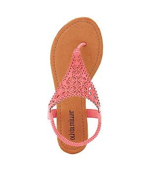 Embellished Laser Cut Sandals