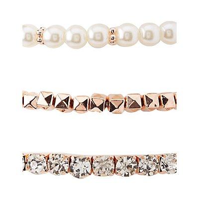 Cosmic Embellished Layering Bracelets - 5 Pack