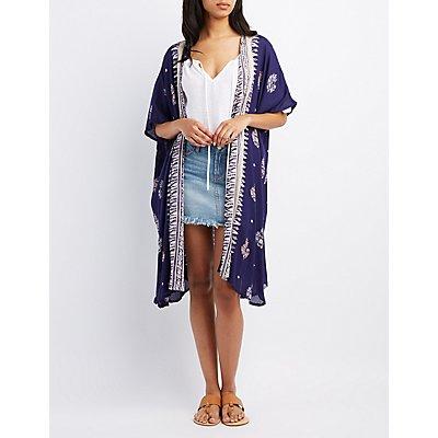 Printed Duster Kimono