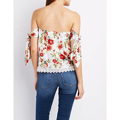 Floral Tied Off-The-Shoulder Top
