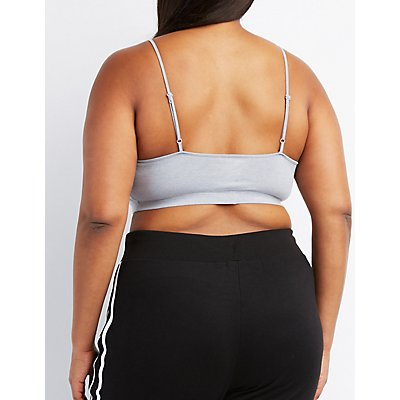 Plus Size Caged Front Bralette