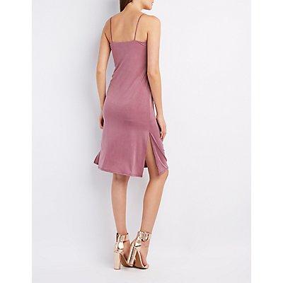 Midi Slit Slip Dress