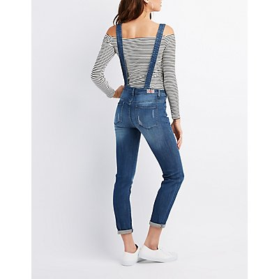 Machine Jeans Dark Wash Denim Overalls