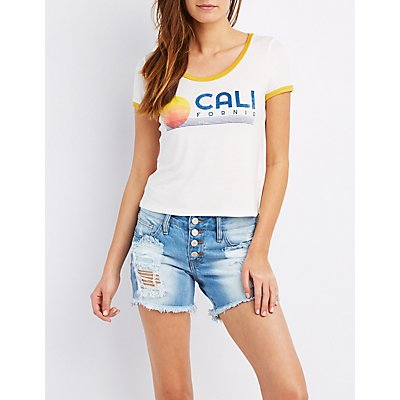 California Graphic Ringer Tee