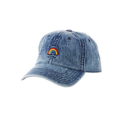 Rainbow Patch Denim Baseball Hat