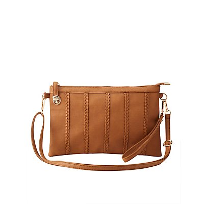 Braided-Trim Crossbody Bag