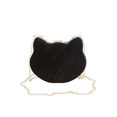 Velvet Cat Crossbody Bag