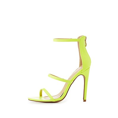 Neon Three-Peice Dress Sandals