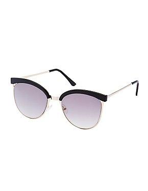 Retro Reflective Cat Eye Sunglasses