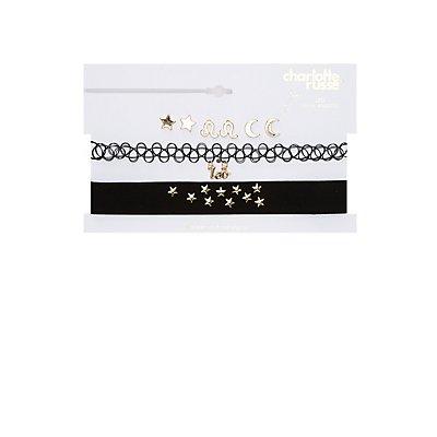Leo Choker Necklaces & Earrings Set