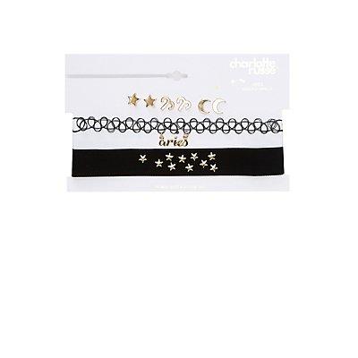 Aries Choker Necklaces & Earrings Set