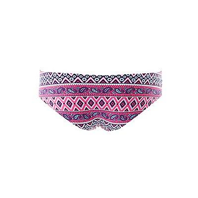 Printed Laser Cut Cheeky Panties