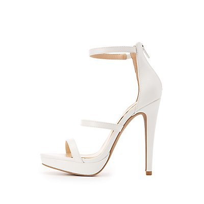 Three-Piece Platform Dress Sandals