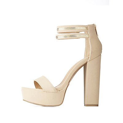 Bamboo Gold-Trim Platform Sandals