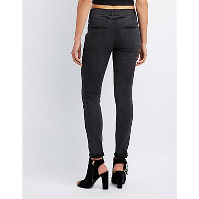 Refuge Destroyed Denim Skinny Jeans