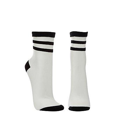 Sheer Mesh Tube Socks
