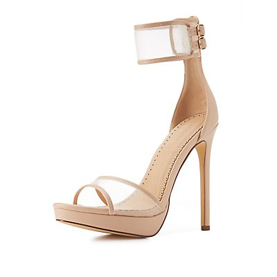 Mesh Two-Piece Dress Sandals