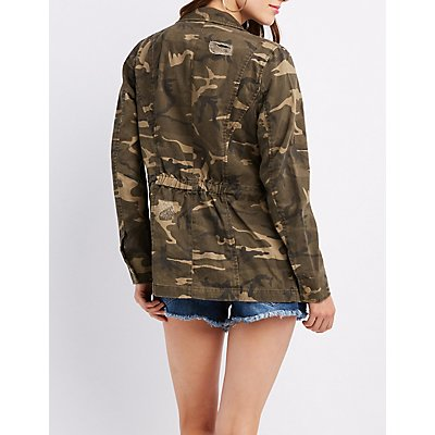 Destroyed Camo Anorak Jacket