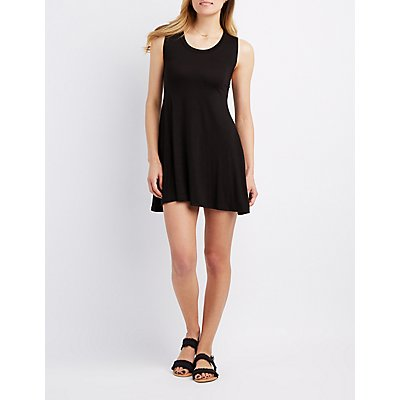 Caged-Back Swing Dress