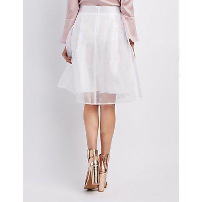 Organza Full Midi Skirt