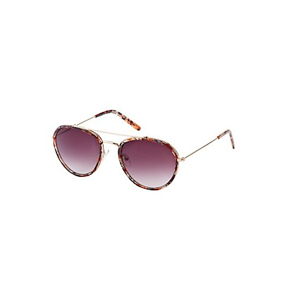 Marbled Aviator Sunglasses